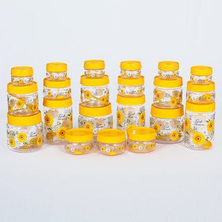 G-PET Yellow Plastic Container Pack of 21