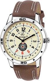 ADAMO Designer White Dial Men's Wrist Watch A329BR01