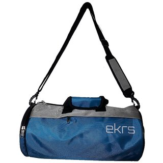 380fc01216 Buy Ek Retail Shop Travel Sports Bag for Women and Men Small Gym Bag ( Size  17 x 8 x 8 inches) - Grey Blue Online - Get 60% Off