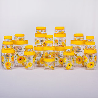 Print Magic Container Yellow - Pack of 24 -2000 ml (2 pcs), 1000 (2 pcs), 700 ml (2 pcs), 500 ml (2 pcs), 450 ml (2 pcs), 250ml (2 pcs), 150 ml (6 pcs), ...
