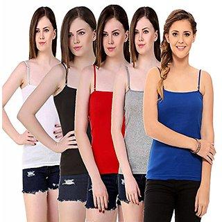 Women Era Multi Color Camisole Pack of 5