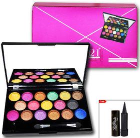 Glam21 17 Color Professional Eye Shadow With LaPerla Kajal- ES501