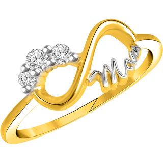 Vidhi Jewels Gold Plated Mom Alloy  Brass Finger Ring for Women  Girls VFR245G