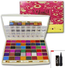 Glam21 48 Color Professional Eye Shadow With LaPerla Kajal- ES701