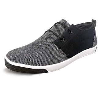Ostr Men's Casual Denim Grey & Black Sneaker Shoe