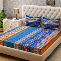 Bombay Dyeing-Amber-Multicolor-Double Bedsheet with 2 Pillow Covers