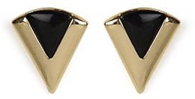 The Pari Trendy Black And Gold Earrings (TPER-560)