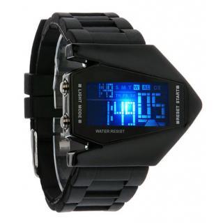Skmei digital black watch with 7 Light