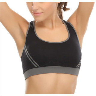 a2e03ba40c6085 Buy Hari Om Creation Presents Black Color Cotton Lycra Sports Bra ...