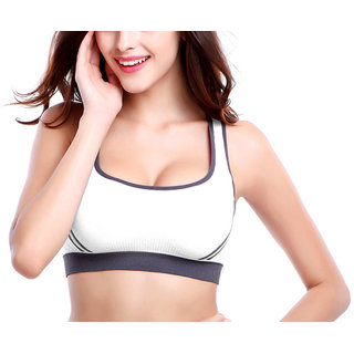 826098e384 Buy Hari Om Creation Presents Black Color Cotton Lycra Sports Bra ...