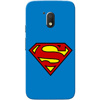 Moto G4 Play Case, Supermn Blue Slim Fit Hard Case Cover/Back Cover for Motorola Moto G Play 4th Gen/Moto G4 Play