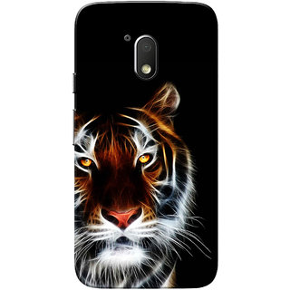 Moto G4 Play Case, Tiger Black Slim Fit Hard Case Cover/Back Cover for Motorola Moto G Play 4th Gen/Moto G4 Play