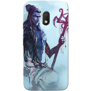 Moto G4 Play Case, Shiva Painting Slim Fit Hard Case Cover/Back Cover for Motorola Moto G Play 4th Gen/Moto G4 Play