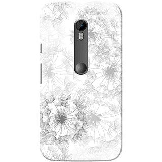 Moto G3 Case, Moto G Turbo Case, Flowers White Slim Fit Hard Case Cover/Back Cover for Motorola Moto G3/Moto G 3rd Gen/Moto G Turbo