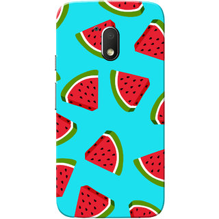 Moto G4 Play Case, Watermelon Blue Slim Fit Hard Case Cover/Back Cover for Motorola Moto G Play 4th Gen/Moto G4 Play