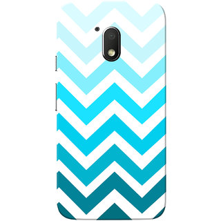 Moto G4 Play Case, Blue Zigzag White Slim Fit Hard Case Cover/Back Cover for Motorola Moto G Play 4th Gen/Moto G4 Play