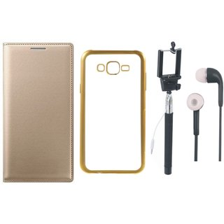 Leather Finish Flip Cover for Lenovo Vibe K4 Note with Free Silicon Back Cover, free Selfie Stick and Free Earphones