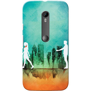 Moto G3 Case, Moto G Turbo Case, Half Girlfriend Green Orange Slim Fit Hard Case Cover/Back Cover for Motorola Moto G3/Moto G 3rd Gen/Moto G Turbo