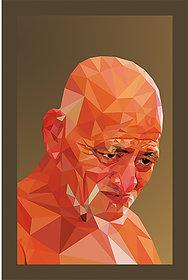 Jain Acharaya Shri Vidya Sagar ji Maharaj Creative Portrait