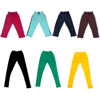 IndiWeaves Boys Combo Pack(Pack of 3 Solid and 1 Printed Lower/Tarck Pants With 3 Cotton Leggings)_Multicolor_2-3 Years_36027303334714050607-IW-P7-22