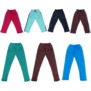 IndiWeaves Boys Combo Pack(Pack of 3 Solid and 1 Printed Lower/Tarck Pants With 3 Cotton Leggings)_Multicolor_2-3 Years_36027303334714111315-IW-P7-22