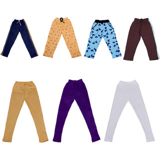 IndiWeaves Boys Combo Pack(Pack of 2 Solid and 2 Printed Lower/Tarck Pants With 3 Cotton Leggings)_Multicolor_2-3 Years_36009132230714010203-IW-P7-22