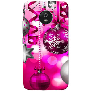 Moto G5 Case, Chirstmas Pink Slim Fit Hard Case Cover/Back Cover for Motorola