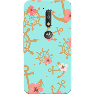 Moto G4 Plus, Moto G4 Case, Brown Anchor Green Slim Fit Hard Case Cover/Back Cover for Moto G4 Plus/Motorola Moto G4/Moto G Plus 4th Gen/Moto G 4th Gen