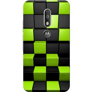 Moto G4 Plus, Moto G4 Case, Cubes Black Neon Slim Fit Hard Case Cover/Back Cover for Moto G4 Plus/Motorola Moto G4/Moto G Plus 4th Gen/Moto G 4th Gen