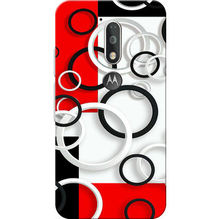 Moto G4 Plus, Moto G4 Case, Circles White Red Black Slim Fit Hard Case Cover/Back Cover for Moto G4 Plus/Motorola Moto G4/Moto G Plus 4th Gen/Moto G 4th Gen
