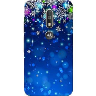 Moto G4 Plus, Moto G4 Case, Blue Stars Slim Fit Hard Case Cover/Back Cover for Moto G4 Plus/Motorola Moto G4/Moto G Plus 4th Gen/Moto G 4th Gen