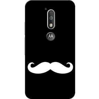 Moto G4 Plus, Moto G4 Case, White Moustache Black Slim Fit Hard Case Cover/Back Cover for Moto G4 Plus/Motorola Moto G4/Moto G Plus 4th Gen/Moto G 4th Gen
