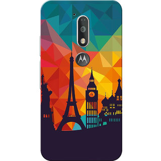 Moto G4 Plus, Moto G4 Case, City Shadow Slim Fit Hard Case Cover/Back Cover for Moto G4 Plus/Motorola Moto G4/Moto G Plus 4th Gen/Moto G 4th Gen