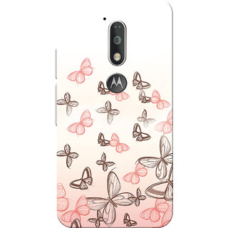 Moto G4 Plus, Moto G4 Case, Pink Butterfly White Slim Fit Hard Case Cover/Back Cover for Moto G4 Plus/Motorola Moto G4/Moto G Plus 4th Gen/Moto G 4th Gen