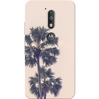 Moto G4 Plus, Moto G4 Case, Coconut Tree Pink Slim Fit Hard Case Cover/Back Cover for Moto G4 Plus/Motorola Moto G4/Moto G Plus 4th Gen/Moto G 4th Gen