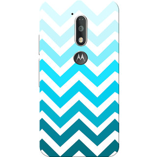 Moto G4 Plus, Moto G4 Case, Blue Zigzag White Slim Fit Hard Case Cover/Back Cover for Moto G4 Plus/Motorola Moto G4/Moto G Plus 4th Gen/Moto G 4th Gen