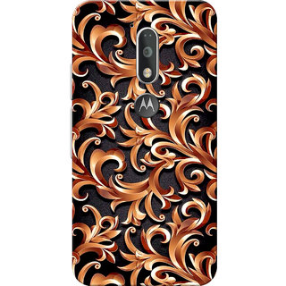 Moto G4 Plus, Moto G4 Case, Abstract Golden Black Slim Fit Hard Case Cover/Back Cover for Moto G4 Plus/Motorola Moto G4/Moto G Plus 4th Gen/Moto G 4th Gen