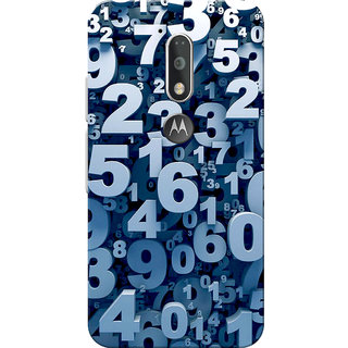 Moto G4 Plus, Moto G4 Case, Numbers Slim Fit Hard Case Cover/Back Cover for Moto G4 Plus/Motorola Moto G4/Moto G Plus 4th Gen/Moto G 4th Gen