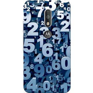 Moto G4 Plus, Moto G4 Case, Numbers Slim Fit Hard Case Cover/Back Cover for Moto G4 Plus/Motorola Moto G4/Moto G Plus 4th Gen/Moto G 4th Gen