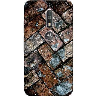 Moto G4 Plus, Moto G4 Case, Brown Bricks Slim Fit Hard Case Cover/Back Cover for Moto G4 Plus/Motorola Moto G4/Moto G Plus 4th Gen/Moto G 4th Gen