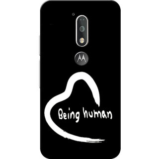 Moto G4 Plus, Moto G4 Case, Being Human Black Slim Fit Hard Case Cover/Back Cover for Moto G4 Plus/Motorola Moto G4/Moto G Plus 4th Gen/Moto G 4th Gen
