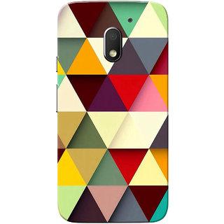 Moto E3 Power Case, Moto E3 Case, Medium triangle design Slim Fit Hard Case Cover/Back Cover for Motorola Moto E 3rd Gen/Moto E3 Power