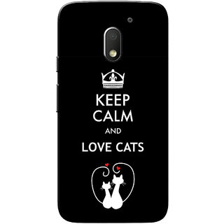 Moto E3 Power Case, Moto E3 Case, Love Cats Black Slim Fit Hard Case Cover/Back Cover for Motorola Moto E 3rd Gen/Moto E3 Power