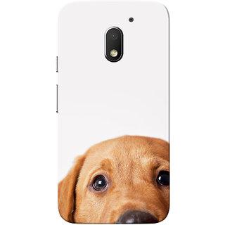 Moto E3 Power Case, Moto E3 Case, Dog White Slim Fit Hard Case Cover/Back Cover for Motorola Moto E 3rd Gen/Moto E3 Power