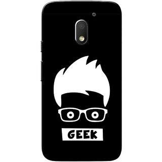 Moto E3 Power Case, Moto E3 Case, Geek Black Slim Fit Hard Case Cover/Back Cover for Motorola Moto E 3rd Gen/Moto E3 Power