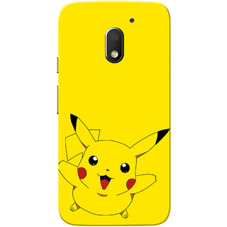 Moto E3 Power Case, Moto E3 Case, Piikachu Slim Fit Hard Case Cover/Back Cover for Motorola Moto E 3rd Gen/Moto E3 Power