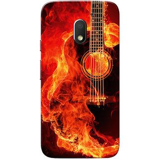 Moto E3 Power Case, Moto E3 Case, Burning Guitar Slim Fit Hard Case Cover/Back Cover for Motorola Moto E 3rd Gen/Moto E3 Power