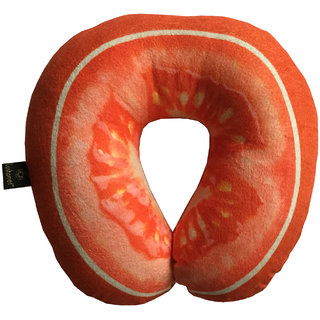 Lushomes Mouthwatering Tomato U-Shaped Fruit Pillows (Single pc packed in a PVC bag 35 x 35 Cms)