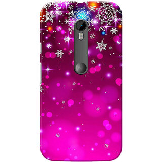 timeless design cdf65 5c659 Buy Moto G3 Case, Moto G Turbo Case, Pink Stars Slim Fit Hard Case ...