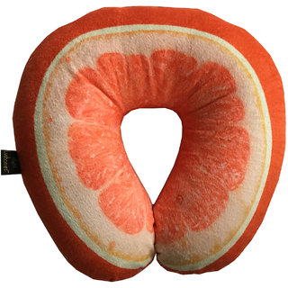Lushomes Mouthwatering Citrus U-Shaped Fruit Pillows (Single pc packed in a PVC bag 35 x 35 Cms)